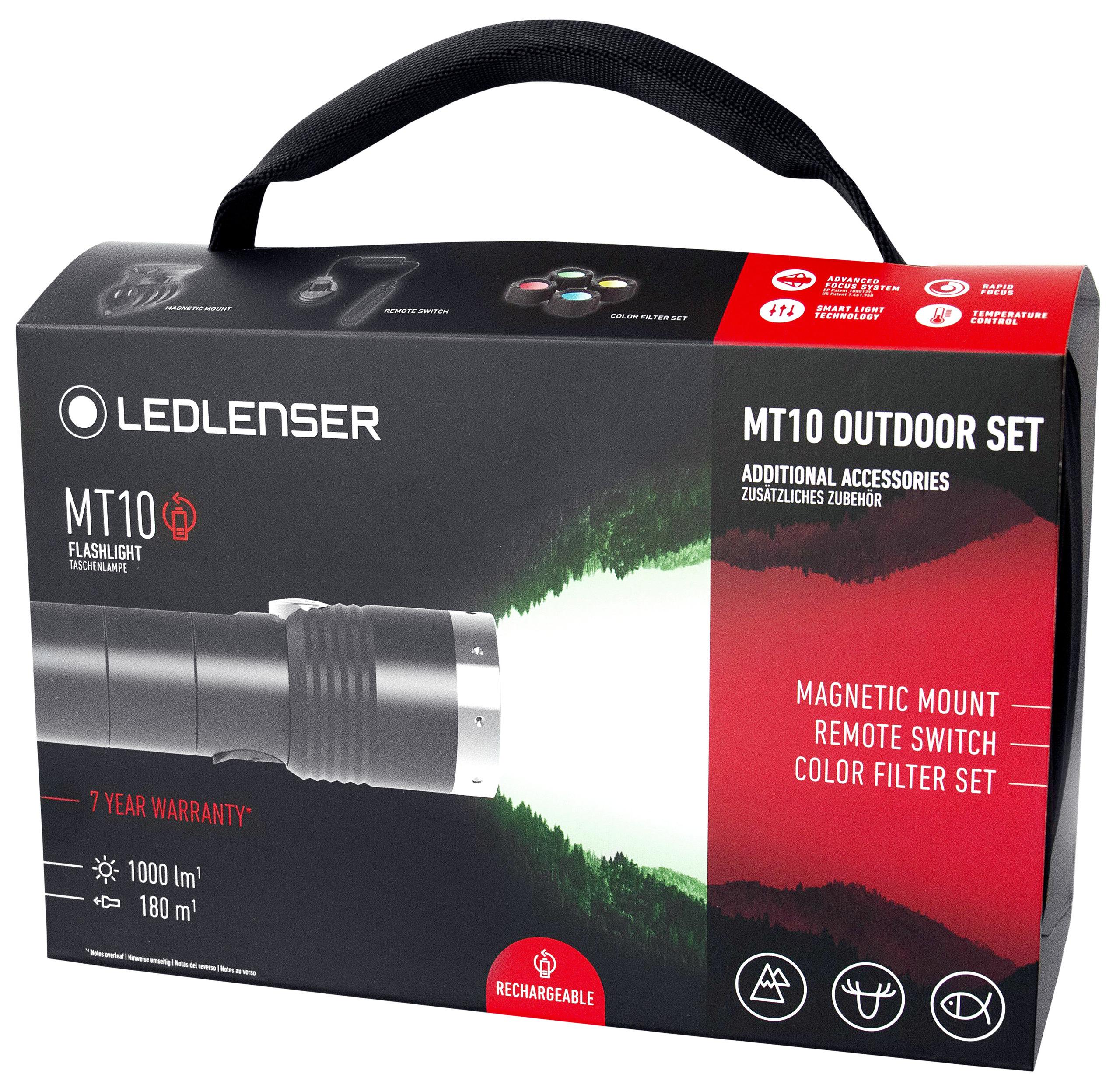 Grube Sale : Led Lenser Outdoor Set , Modell MT 10 bis zu 1000 Lumen, inkl.Satz Farbfilter, Magnethalter und Fernschalter