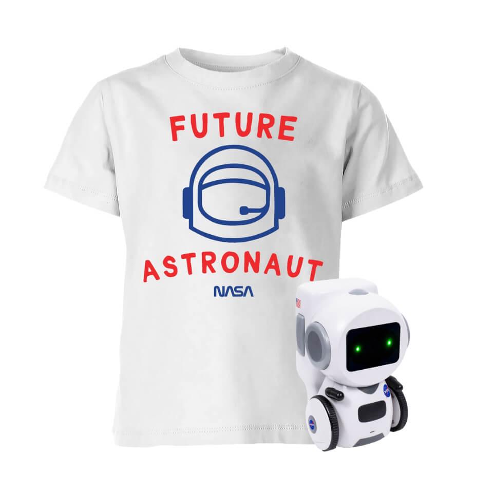 NASA Roboter Bundle: Kinder T-Shirt (3 bis 12 Jahre) + Interaktiver Spielzeugroboter