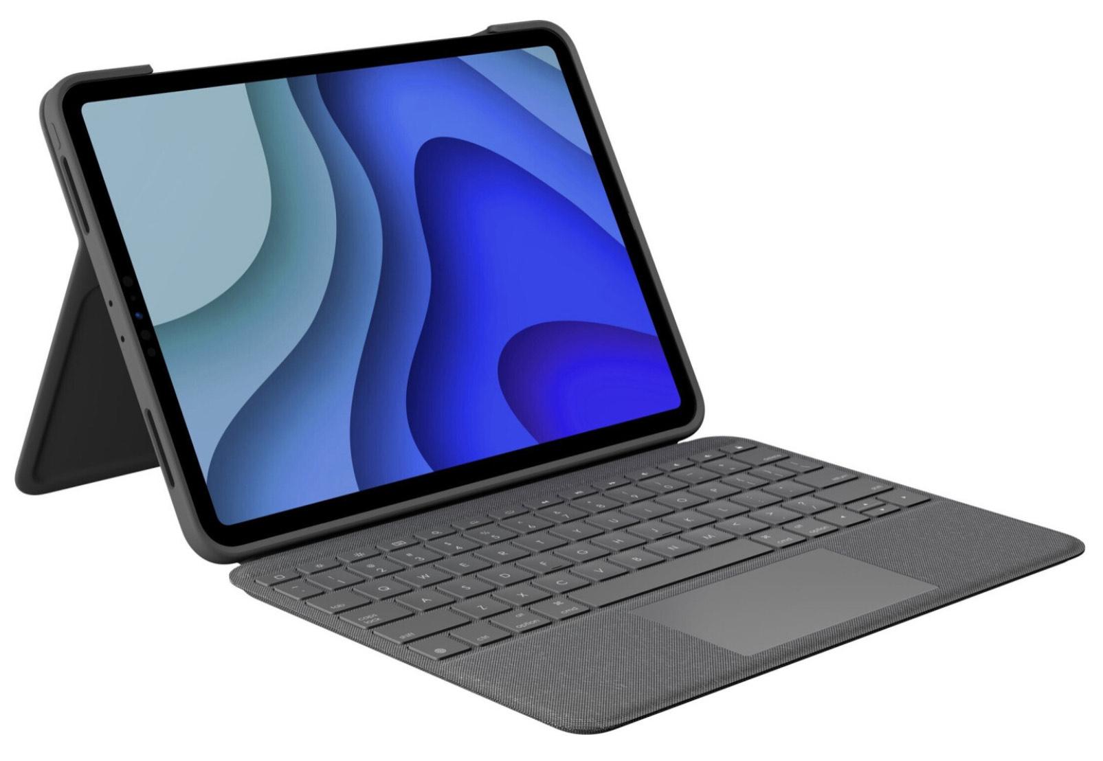 Logitech Folio Touch Graphite iPad Pro 11 1. & 2. Generation Tastatur Deutsch QWERTZ [TECHNIKdirekt]