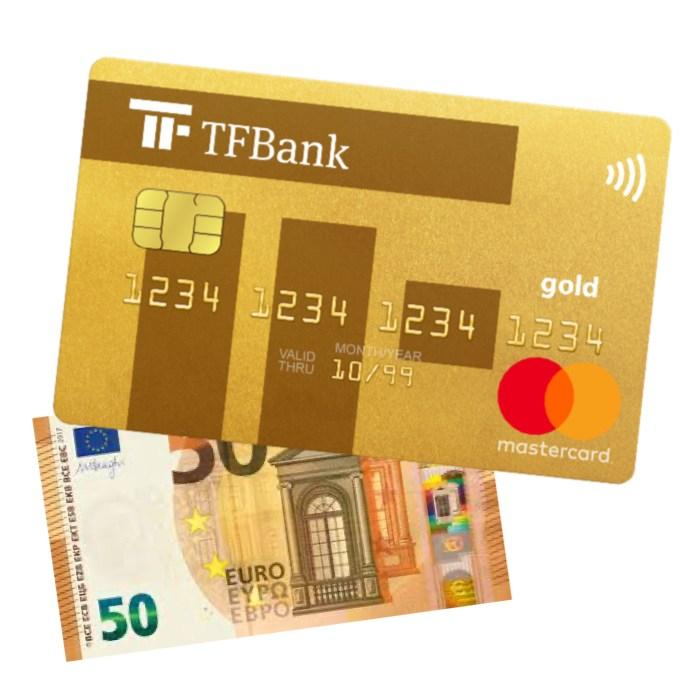 50€ Bonus zur dauerhaft kostenlosen TF Mastercard Gold der TF Bank für Neukunden (mit Reiseversicherungen, weltweit kostenlose Zahlung)