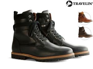 """Travelin' Leder-Stiefel """"Nordfold"""" (Für Damen und Herren, In 3 Farben, Größe 36-46, Woll-Innenfutter, Herausnehmbare Einlegesohle) [iBOOD]"""