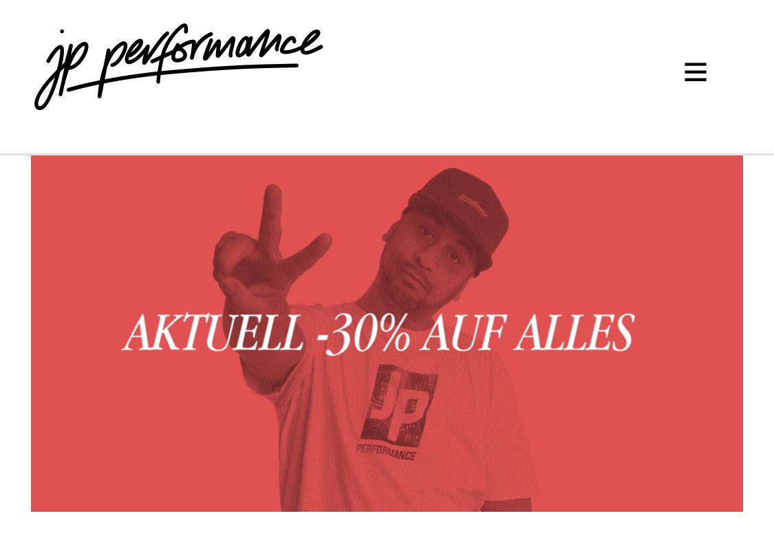 30% im JP Performance Clothing