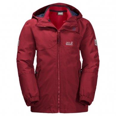 Jack Wolfskin Winterjacke Iceland 3in1 rot Kinder (Größe 164)