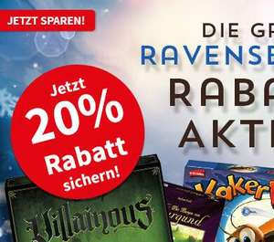 [SO] 20% Rabatt auf Ravensburger Brettspiele (The Castles of Burgundy 30,09€, Broom Service 9,90€)