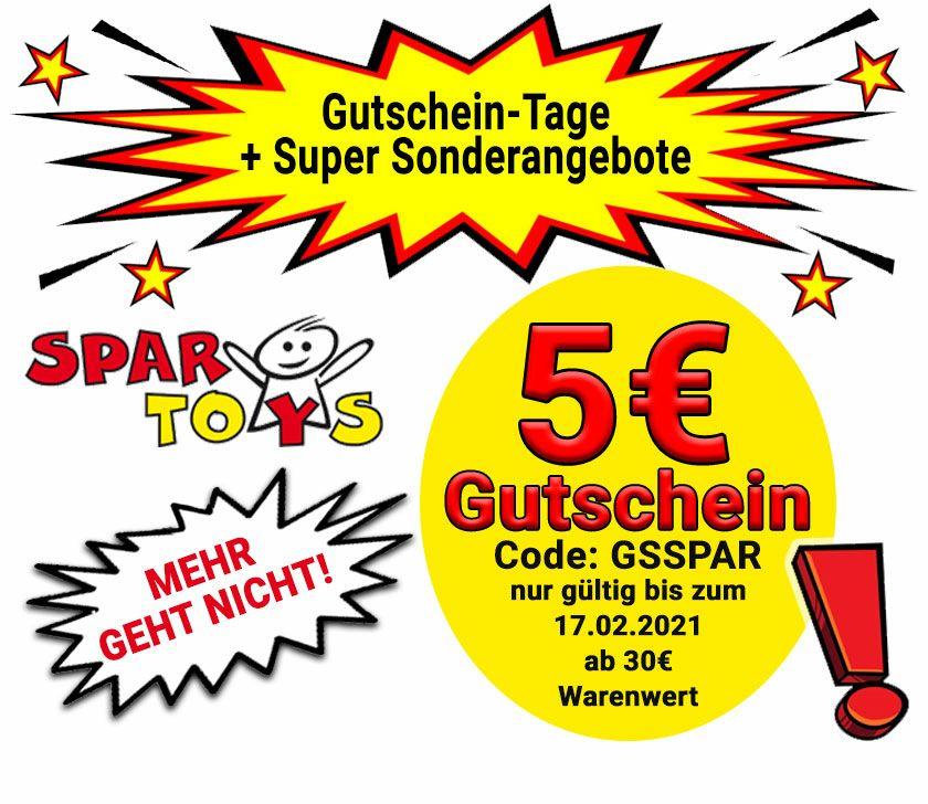 [spar-toys.de] Gutschein über 5€ ab 30€ Bestellwert, auch reduzierte Artikel wie z.b.Hasbro Nerf N-Strike Mega Twinshock B9894EU4