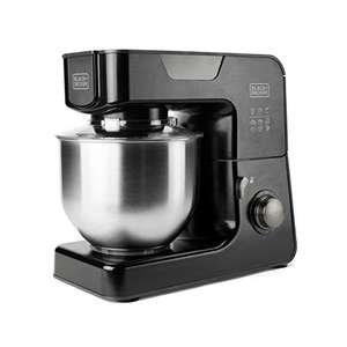[Amazon] Black+Decker BXKM1000E – Küchenmaschine 5,2L Edelstahl Schüssel, 8 Geschwindigkeiten + Turbofunktion, Spritzschutz, Rutschfest