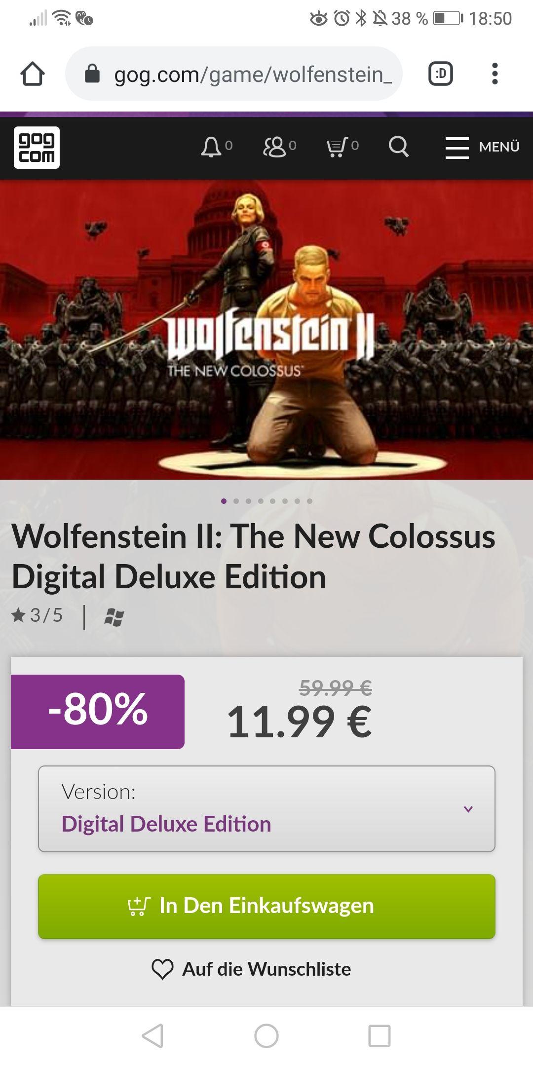 Wolfenstein II The New Colossus Digital Deluxe Edition (GOG)