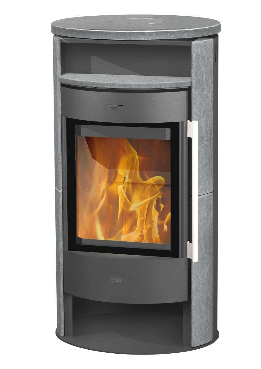 Fireplace Kaminofen Durango Speckstein, grau, 6 kW [Hitseller]