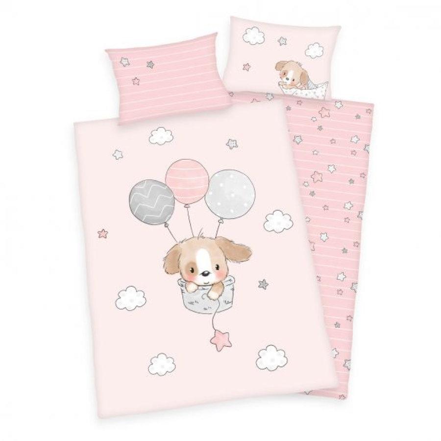 babymarkt Tagesangebote für heute (18.02) - z.B. babybest® Flanell-Bettwäsche Sweet Puppy GOTS 100 x 135 cm