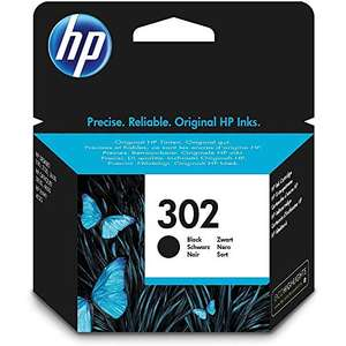 HP 302 Original Druckerpatrone (für HP Deskjet 1110, 2130, 3630, HP OfficeJet 3830, 4650, 5230, HP ENVY 4520) schwarz