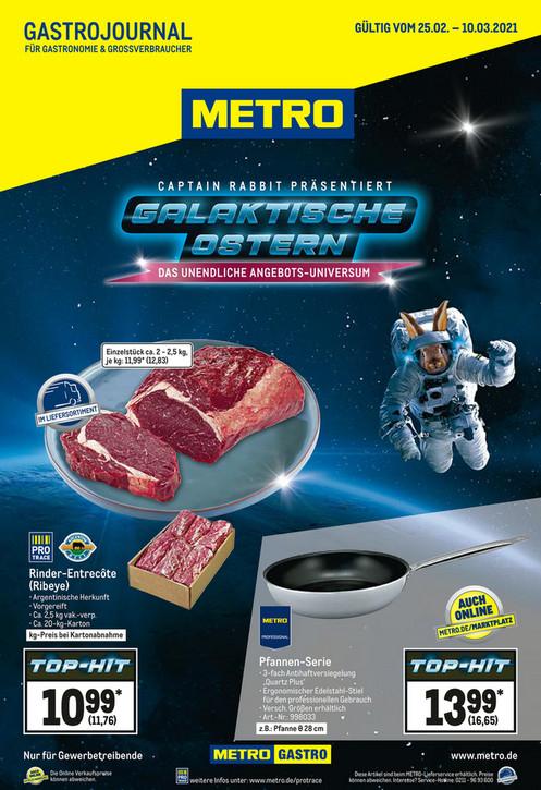 Metro - Argentinisches Entrecote (Ribeye Steak) 11,76€/kg (Kartonabnahme) / 12,83€/Kg ab ca. 2kg