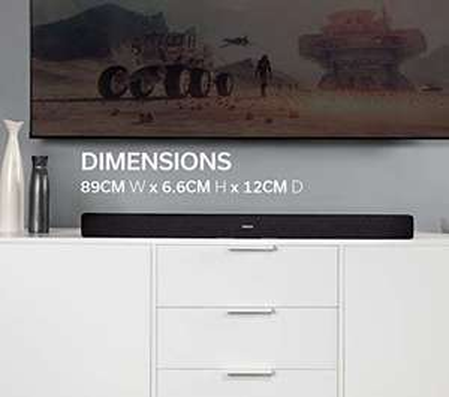 Denon DHT-S216 2.1 TV Soundbar mit integriertem Subwoofer, Bluetooth, HMDI ARC, Dolby Digital, DTS Virtual:X, optischer Eingang