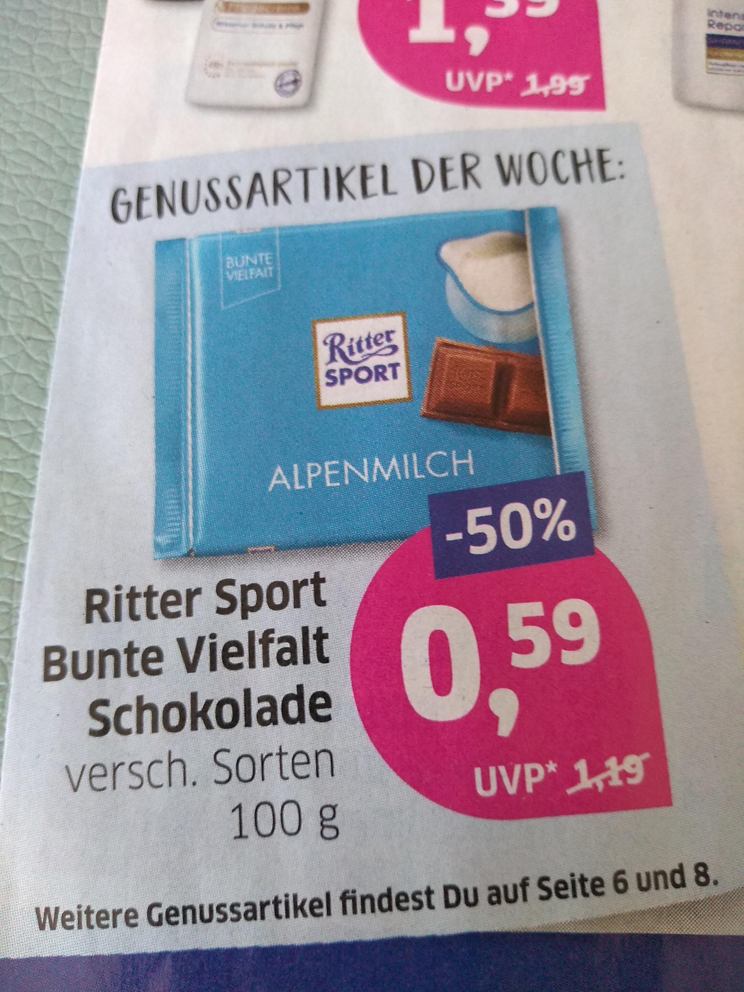"""Ritter Sport """"bunte Vielfalt"""" bei BUDNI"""