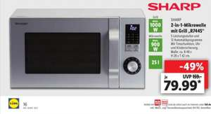 Sharp 2- in -1 Mikrowelle mit Grill R744S Lidl ab 22.02