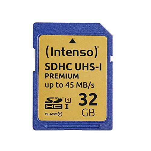 Intenso SDHC UHS-I 32GB Class 10 Speicherkarte blau (Prime)