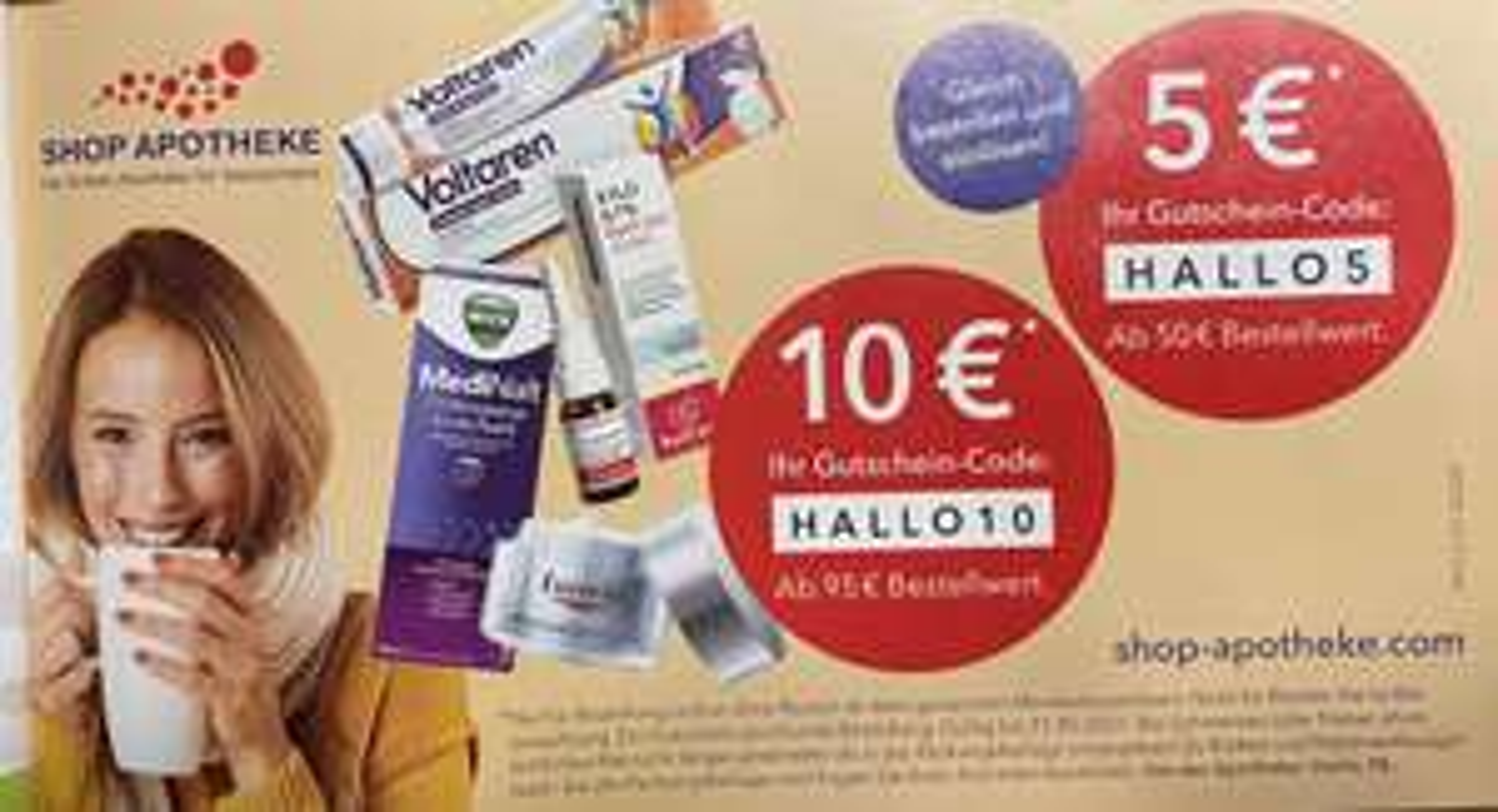 Shop Apotheke 5€/10€ Rabatt ab MBW 50€/95€