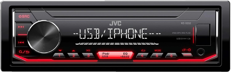 JVC KD-X252 Autoradio mit Front-USB/AUX/iPod/Android/kurze Einbautiefe 100mm für 28,99€ (Expert)
