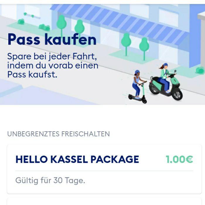 Tier E-Scooter 1€ Unbegrenzt für 1 Monat Freischalten in Kassel