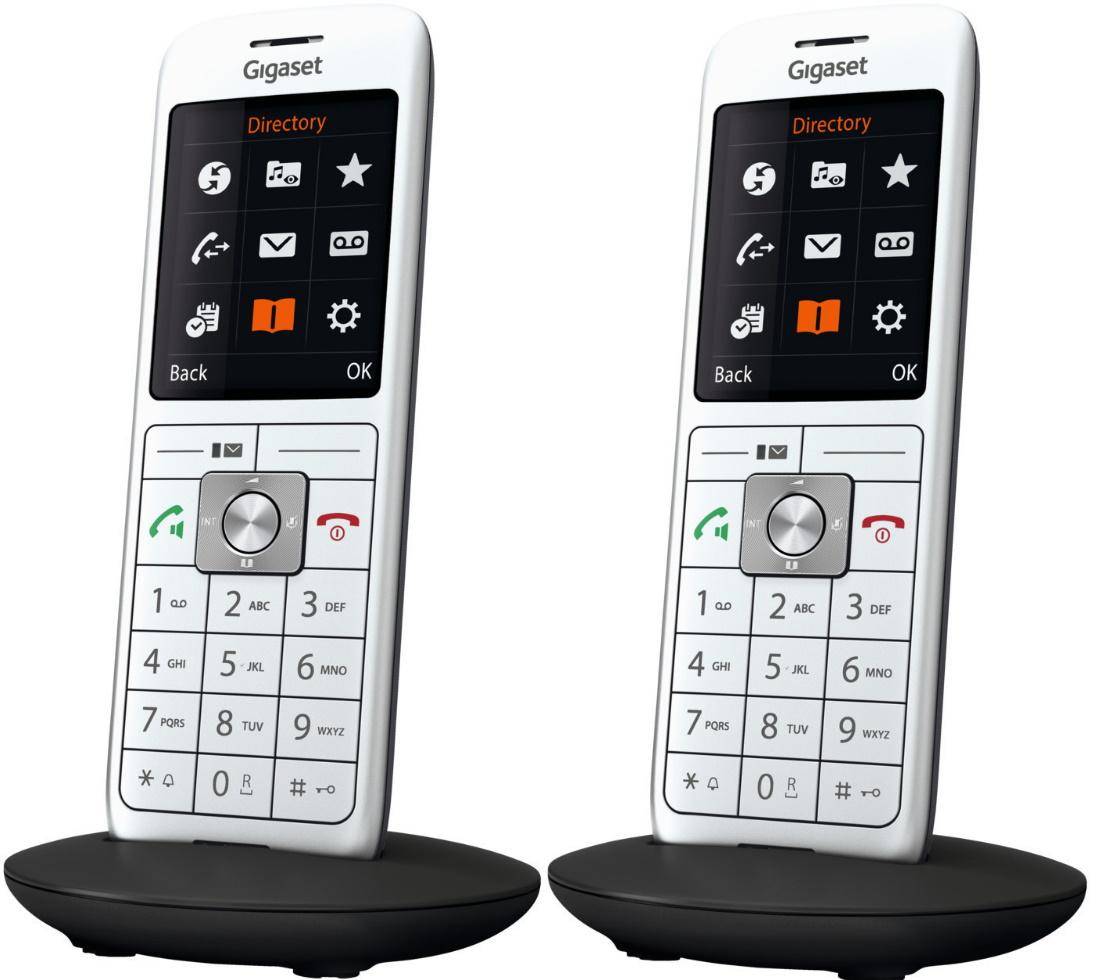 """2x Gigaset CL660HX Mobilteil (DECT-Basis benötigt, kompatibel mit FB/SP inkl. Telefonbuch, 2.4"""" Farbdisplay, 2.5mm-Klinke, Micro-USB)"""
