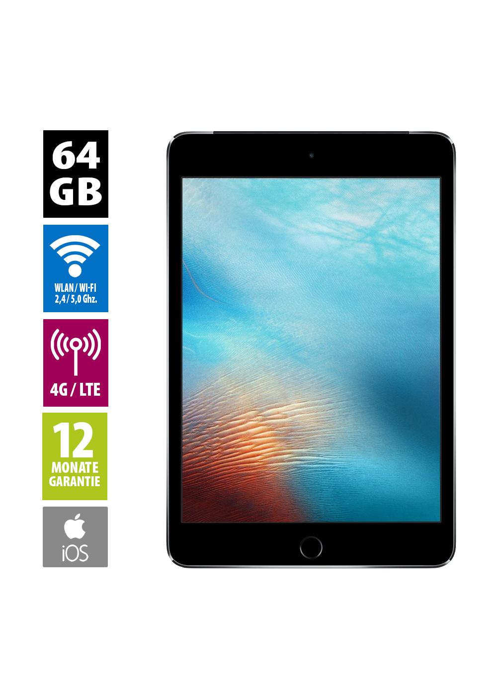 [Afb] Apple iPad mini 4 64GB WiFi+LTE (Grade A - generalüberholt) | WiFi 128GB 205€