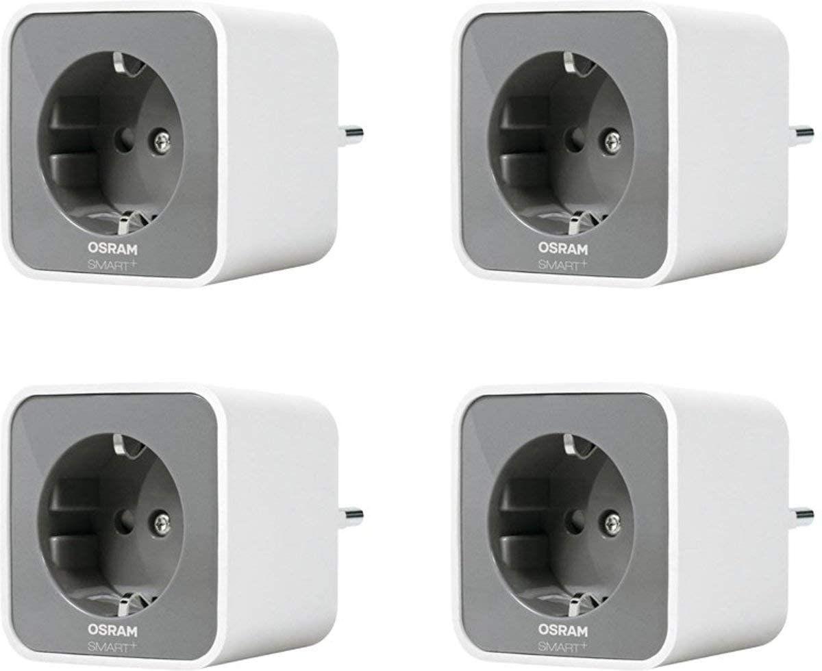 OSRAM Smart+ Plug, ZigBee schaltbare Steckdose, 4er Pack