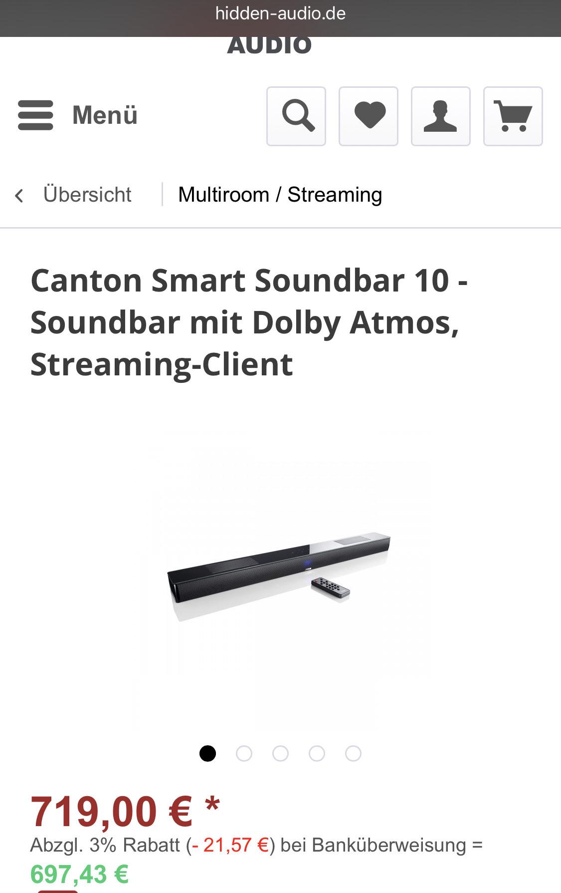 Canton Smart soundbar 10 WEISS UND SCHWARZ