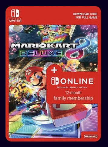Mario Kart 8 Deluxe + 12 Monate Familien Mitgliedschaft