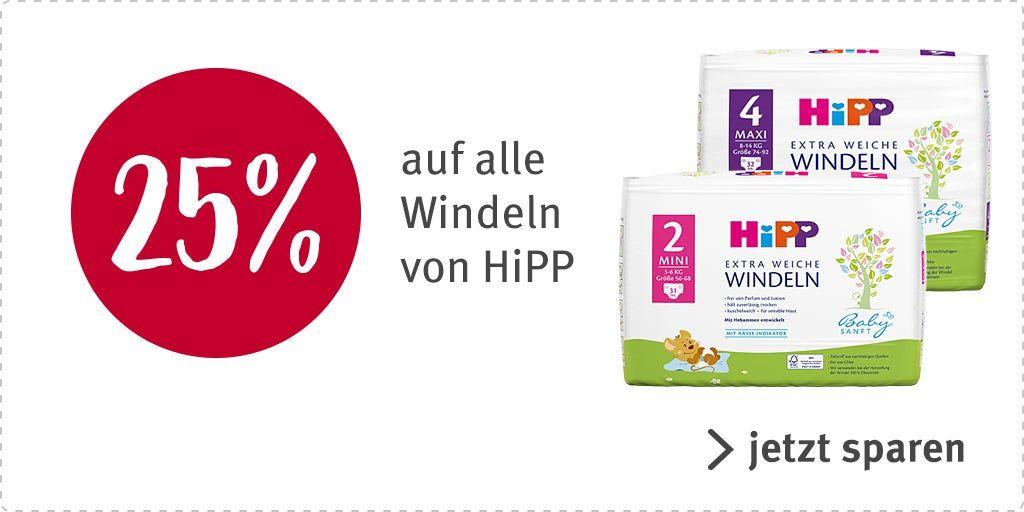[Rossmann] 25%+10% auf alle Hipp Windeln