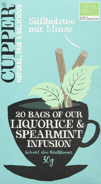 4x Cupper Tee Süßholz mit Pfefferminz