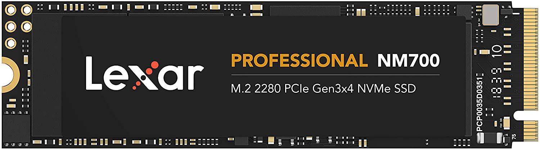 Lexar Professional NM700 SSD 512GB (3.500 MB/S, M.2 2280, PCIe Gen3x4, NVMe, 3D NAND TLC)