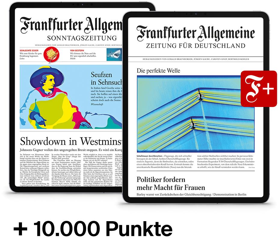 10.000 BahnBonus Punkte für 293,40€ (29,34€ pro Fahrt) inkl. FAZ