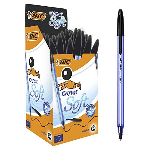 BIC Cristal Soft Kugelschreiber Schwarz 50 Stück für 4,89€ inkl. Versand
