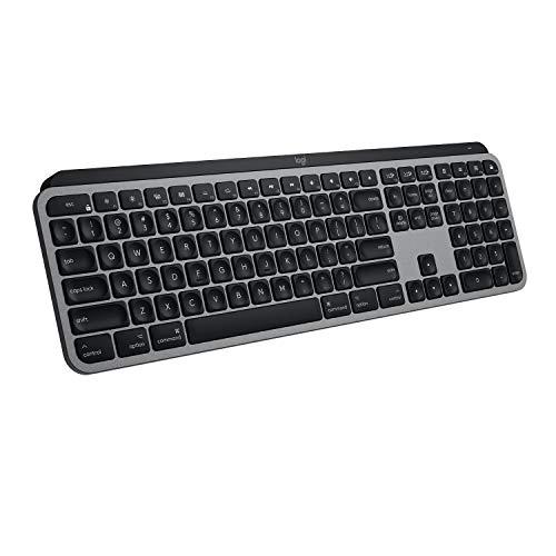 Logitech MX Keys Tastatur für Mac, Metallaufbau, Deutsches QWERTZ, Grau