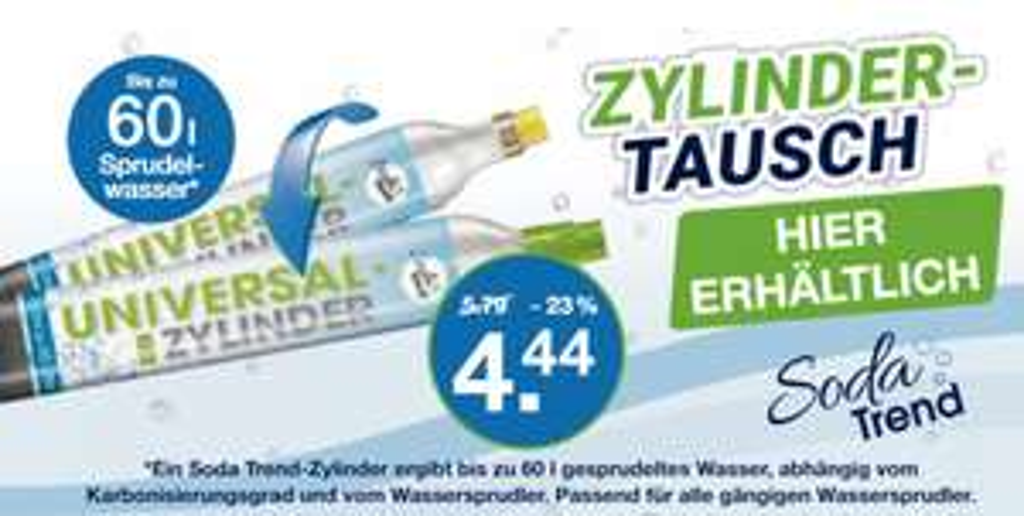 Co² Tauschzylinder für 4,44 € @ V-Märkte MUC/Oberbayern ab 08.03.