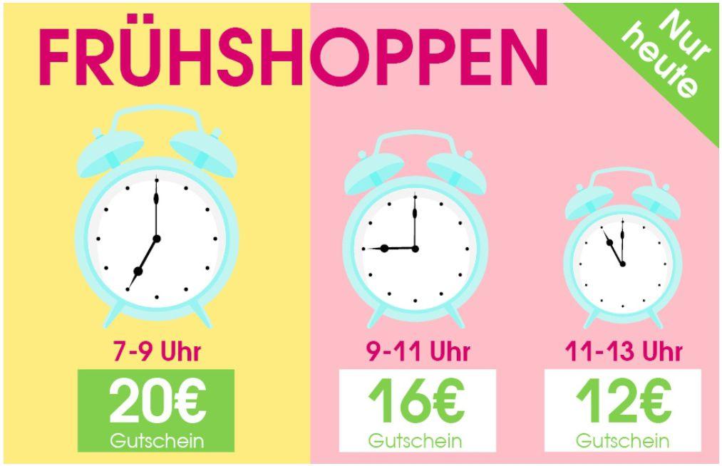 [Babymarkt] Frühshoppen Gutscheine bis 20€, Staffelung nach Uhrzeit, nur heute