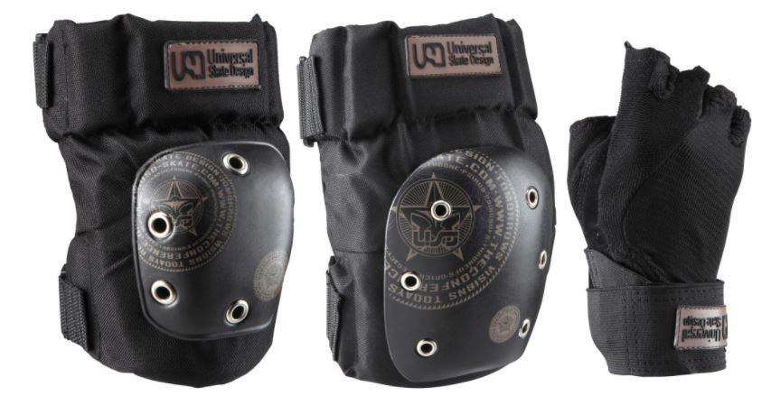 Quiksilver Protektoren 3er-Set (Knie + Ellenbogen + Handgelenk) Größen M/L/XL
