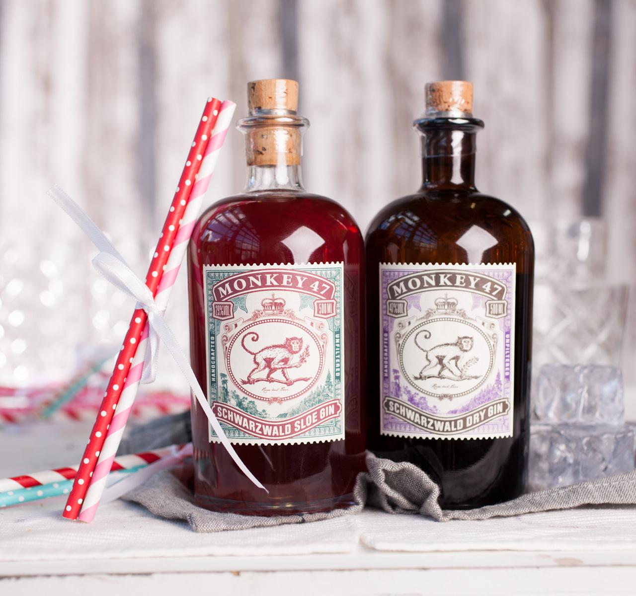 Monkey47 Dry Gin + Monkey47 Sloe Gin