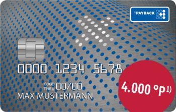Kostenlose PAYBACK Visa Flex+ mit 4000 Punkten zum Start | Personalisiert?!