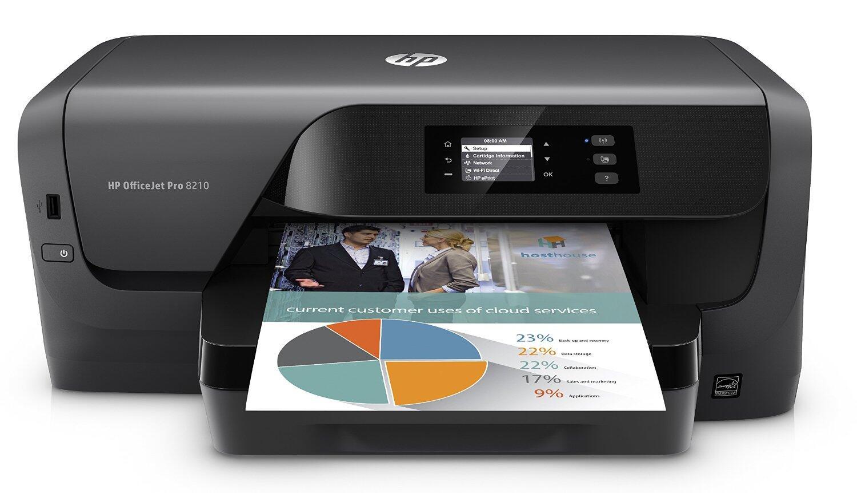HP OfficeJet Pro 8210 Tintenstrahldrucker (A4, 22/18 S/min, Duplexdruck, Instant Ink, WLAN, LAN, USB, Display, 3J Garantie, AirPrint)