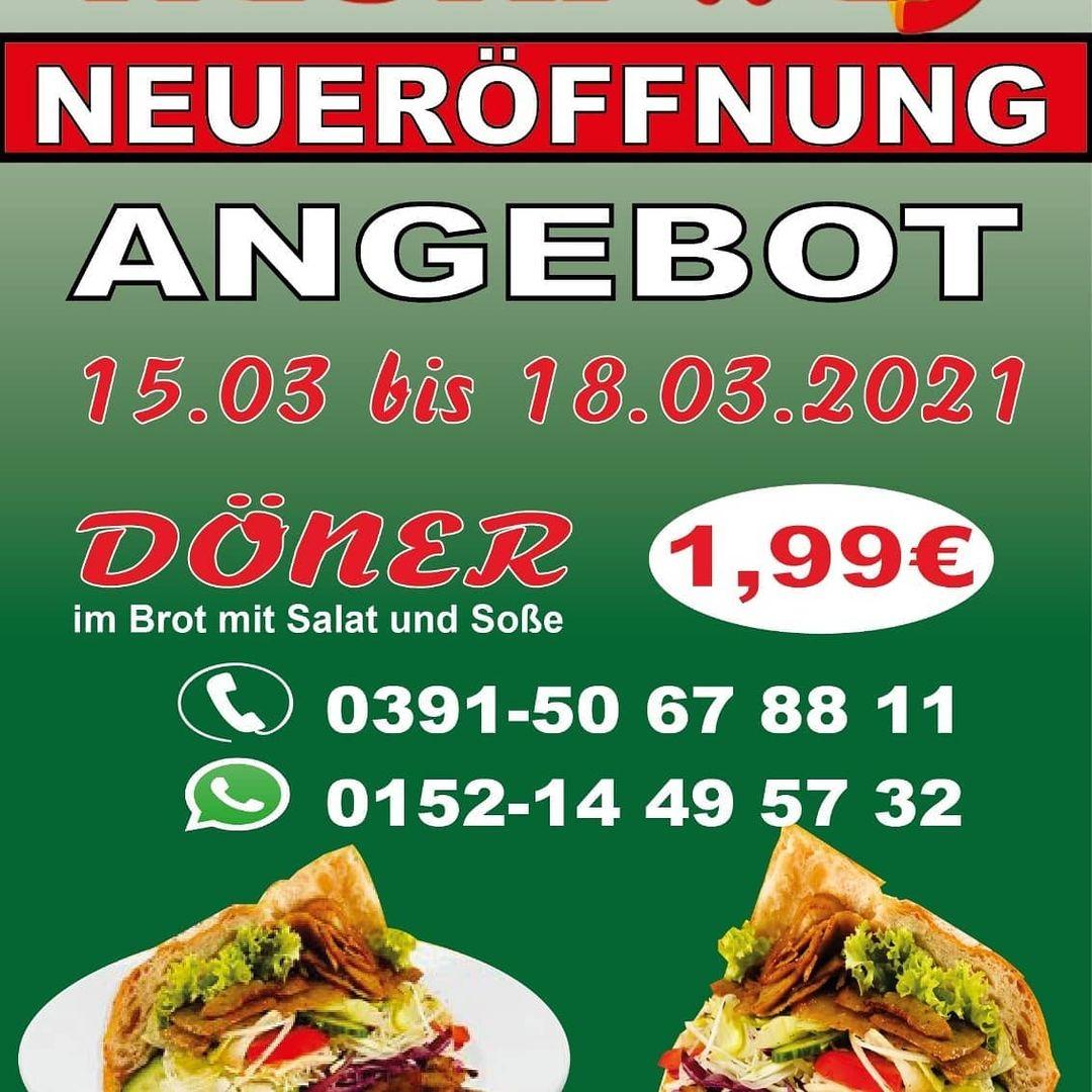 [Magdeburg] Döner 1,99 € vom 15.-18. März, Naski Way, Ampelkreuzung Ebendorfer / Albert-Vater-Str.