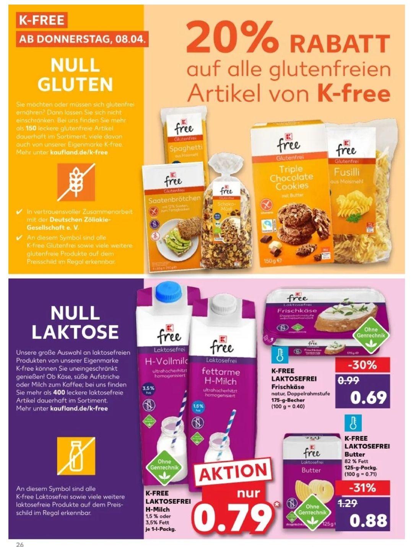 K-free Aktion bei Kaufland, zB K-free Helles Brot glutenfrei