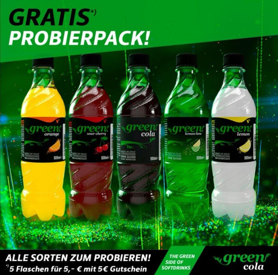 Green Cola 5 Flaschen für 5 EUR inkl. 5 EUR Gutschein (25€ MBW)