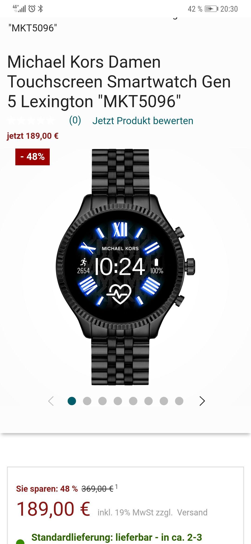 Michael Kors Damen Smartwatch Lexington Generation 5