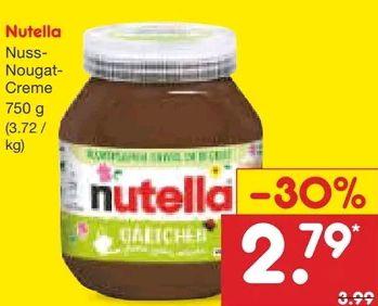 [Netto MD] nutella 750g Glas mit Coupon 2,23€ - Kilopreis 2,97€ / ab 15.03.