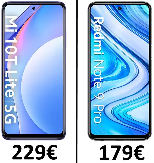 Schaumi-Smartphone-Sammeldeal: Xiaomi Mi 10T Lite 6/128GB für 229€ oder Xiaomi Redmi Note 9 Pro 6/128GB für 179€