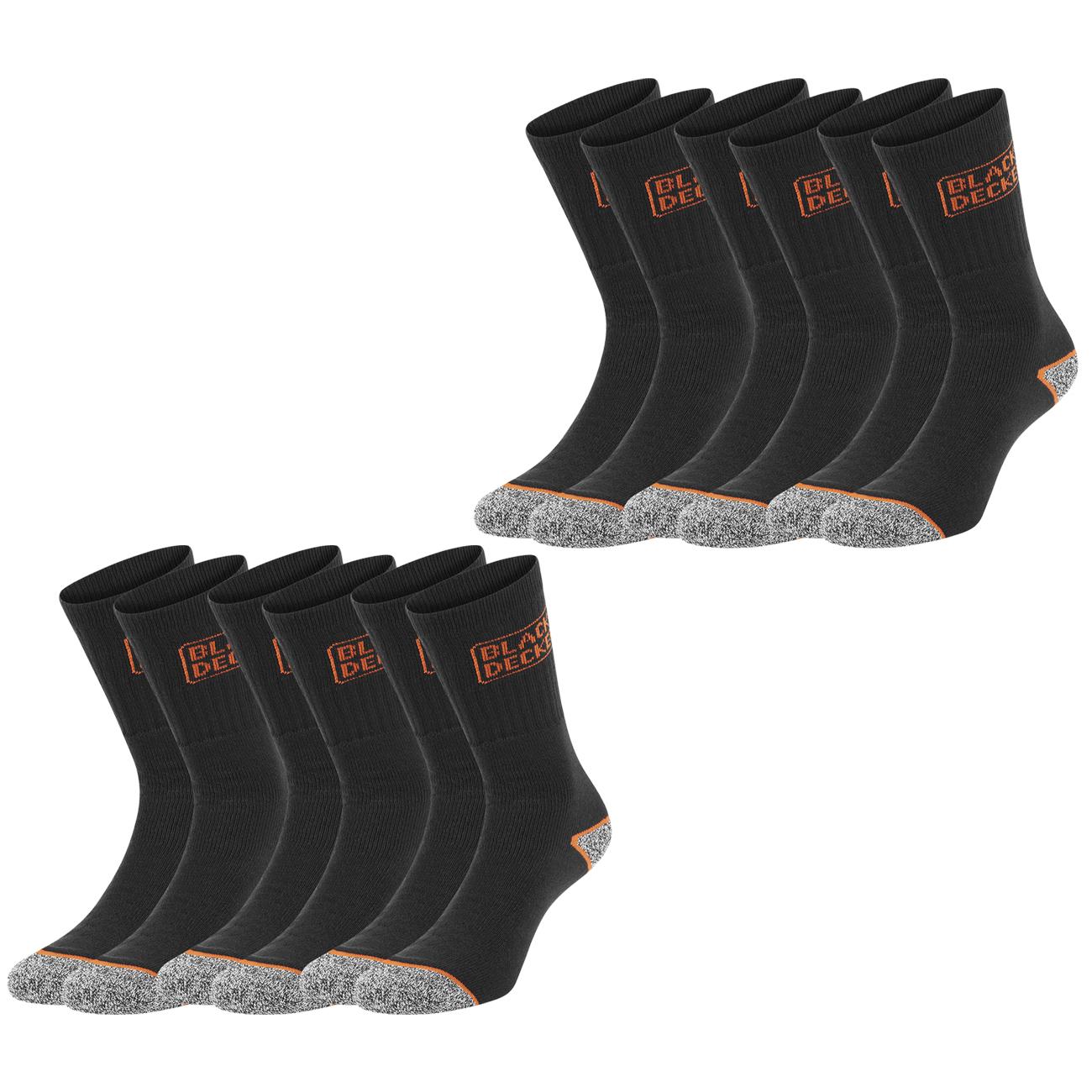 Black+Decker 12er Pack Unisex Sportsocken (Gr. 39-49, Material 65% Baumwolle, 32% Polyester, 3% Polyamid) verschiedene Farben