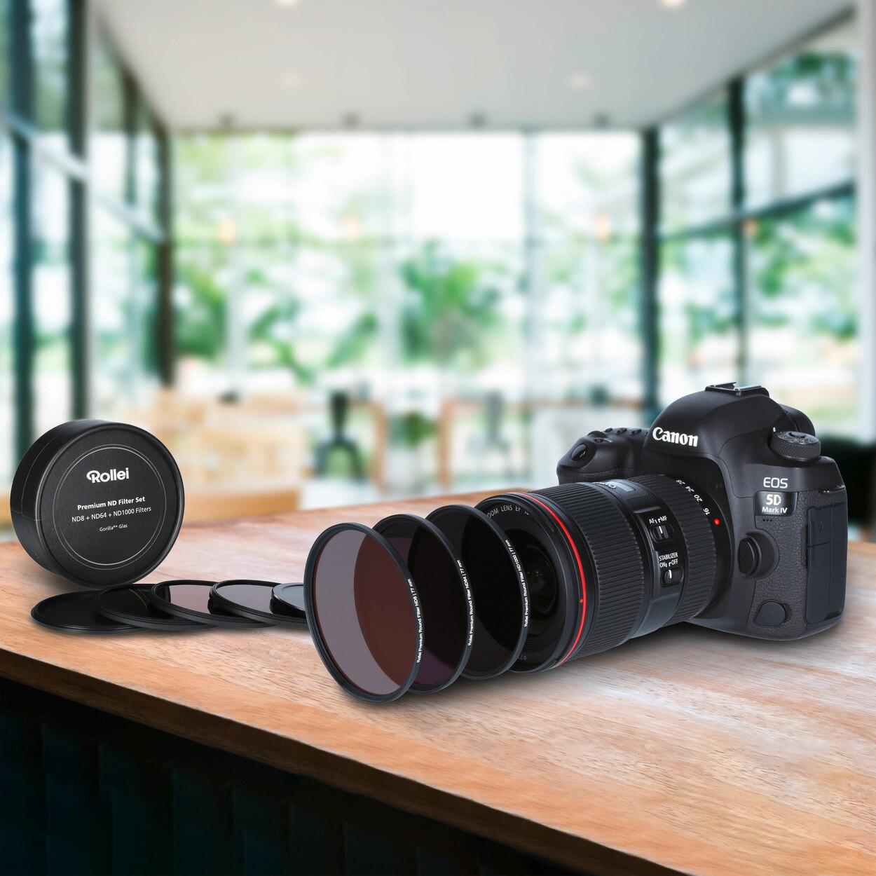 [ Aldi - Nord & Süd / nur online ] [ ab 18.03. ] Rollei Premium ND-Filter-Sets - diverse Durchmesser - ND8, ND64 und ND1000