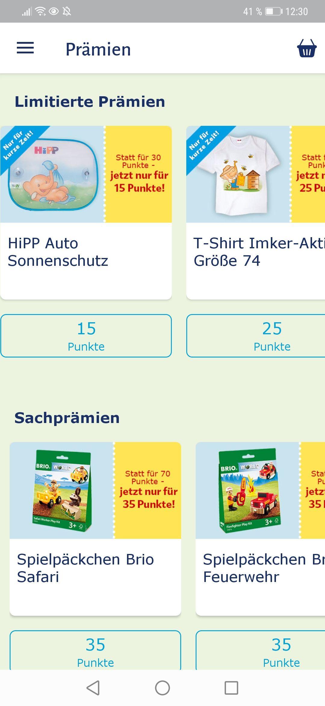 Hipp Windel App Prämien kosten 50% weniger
