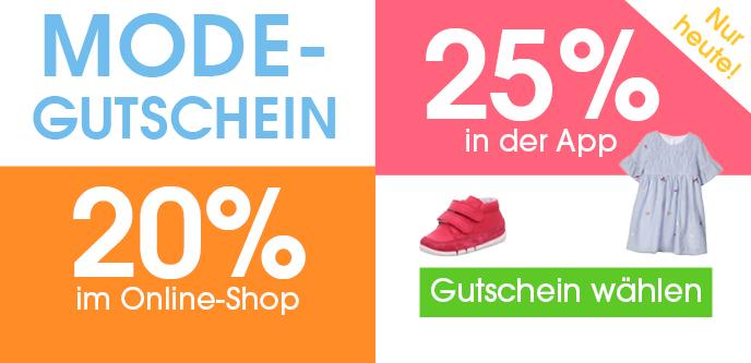 25% Rabatt auf (Baby)Mode in der babymarkt.de-App - z.B. JACKY Wickelbody kurzarm 2er Pack TENCEL (Gr. 50 - 68)