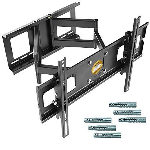RICOO R06 - TV Wandhalterung für schwere Fernseher (schwenkbar, neigbar, bis 95kg)